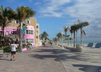 Hollywood Beach in South Florida